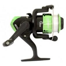 Катушка Fisher SY200 зеленая с леской