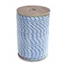 Веревка полиестер 07820622 бело-синяя 6мм 220м
